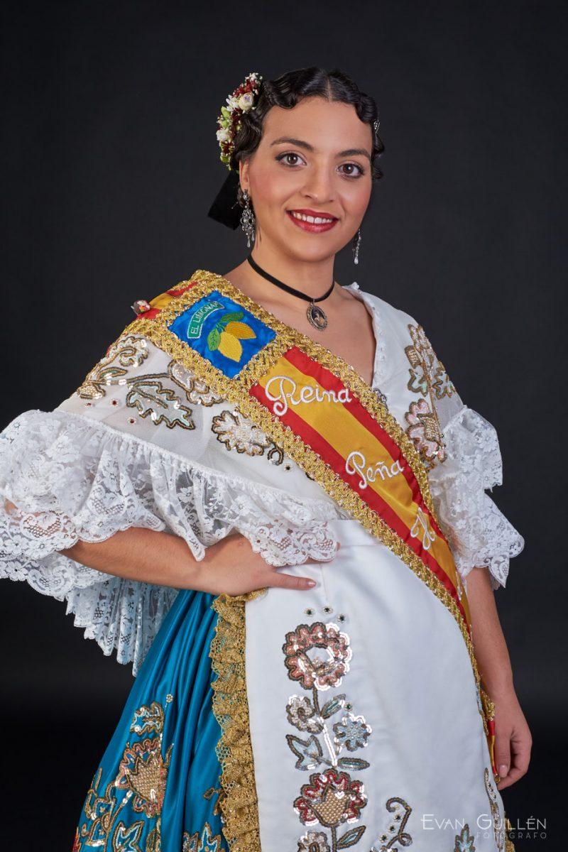 Fotografías en estudio de fotografía de Paula Gómez Sandoval, reina de la huerta de Murcia 2017