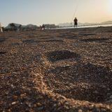Pescando al atardecer en el Mar Menor.