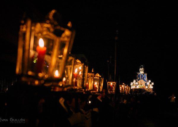 Fotografía de eventos. Procesión del silencio la noche de Jueves Santo en Monteagudo Murcia.