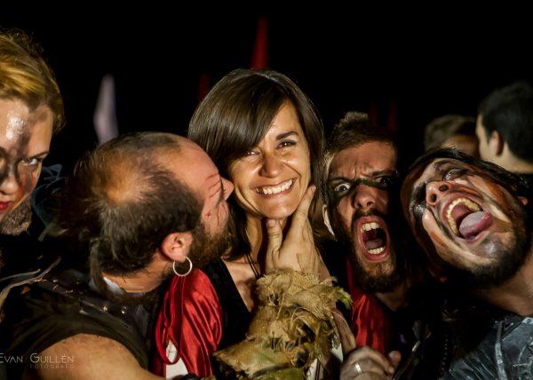 Fotografía de gente. Retrato en fiesta medieval.