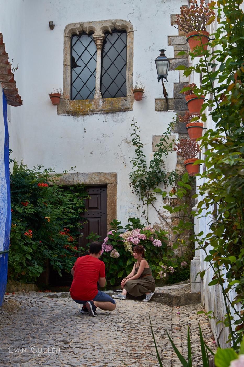 Pueblo medieval de Óbidos, Portugal.