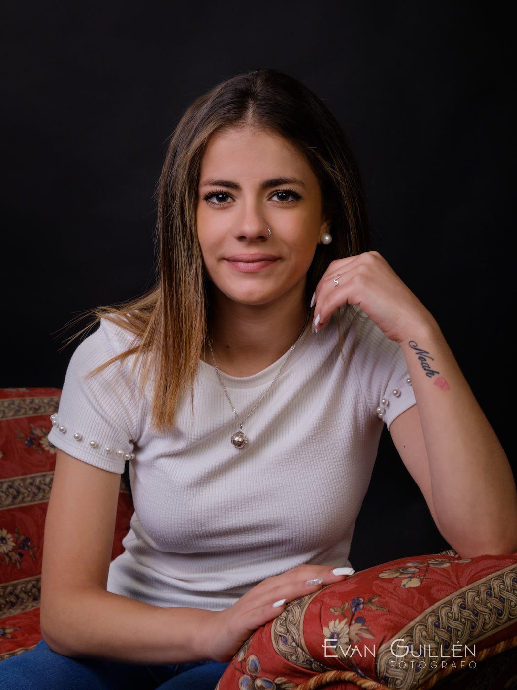 Candidata juvenil a reina de las fiestas Monteagudo 2019